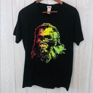 Star Wars Multicolor Neon Graphic Front T-shirt